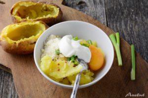 Печёная картошка со сливочной начинкой