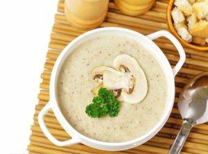 Крем-суп с лесными грибами