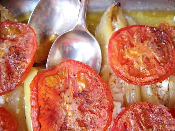 Запеченные перцы по-гречески
