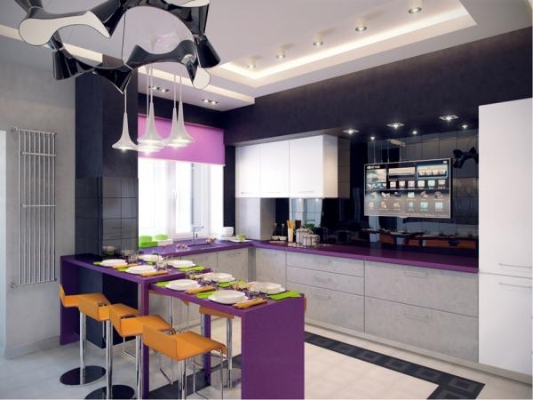 Красивые интерьеры кухонь - 2016-13