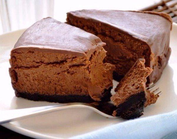 Шоколадный чизкейк для тех, кто следит за фигурой