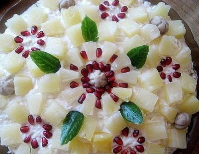 салат ананасовый букет