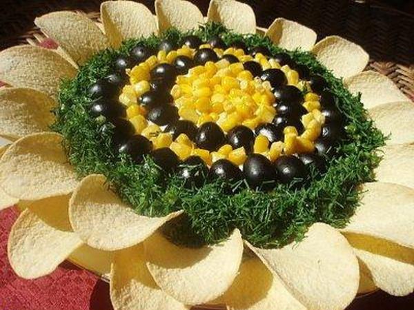 Интересное и необычное оформление салатов 1
