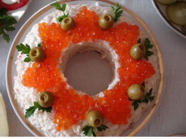 Интересное и необычное оформление салатов 10
