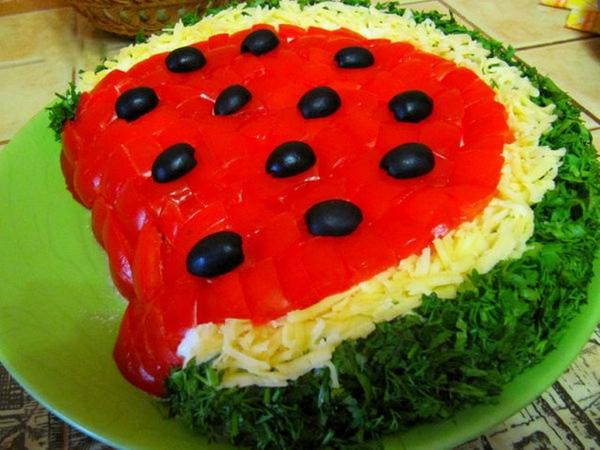 Интересное и необычное оформление салатов 15