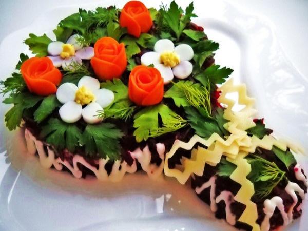 Интересное и необычное оформление салатов 2