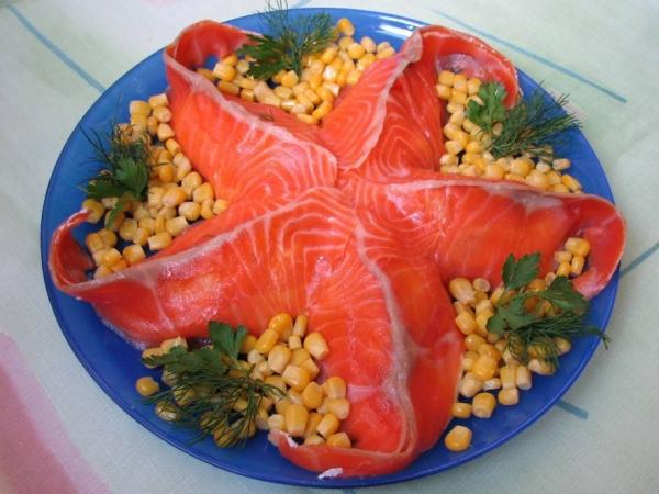 Интересное и необычное оформление салатов 20