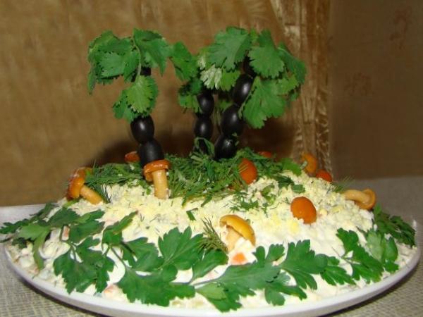 Интересное и необычное оформление салатов 28