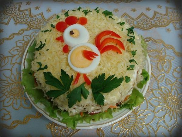 Интересное и необычное оформление салатов 29