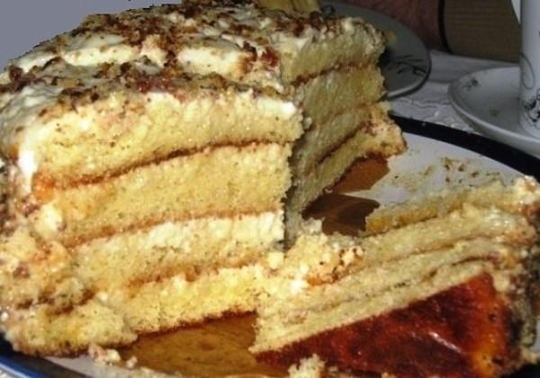 Торт «Аленка» на сгущенке
