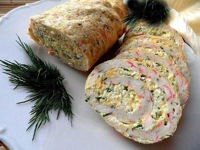 ТОП - 9 рецептов закусочных рулетов к праздничному столу