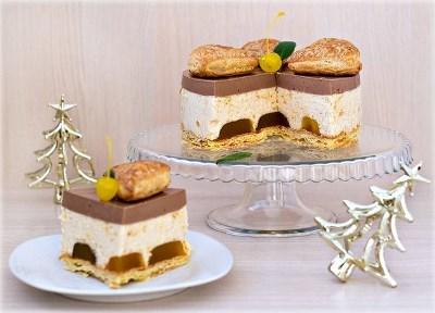 Яблочно-шоколадный торт-суфле
