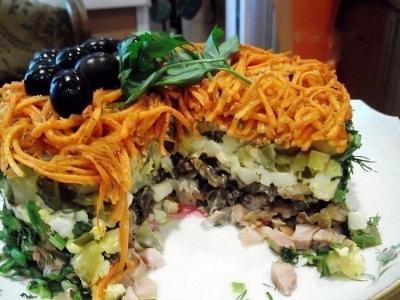 ТОП-10 салатов с грибами