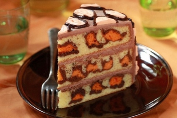 «Леопардовый» торт