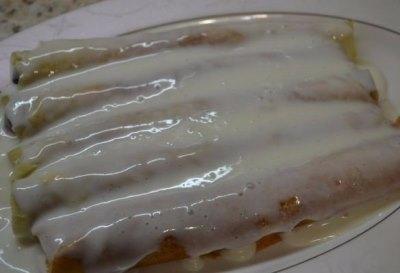 Блинный тортик с вишневой начинкой