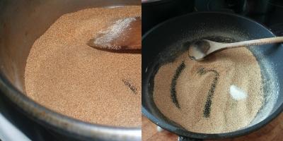 Манка на сковороде