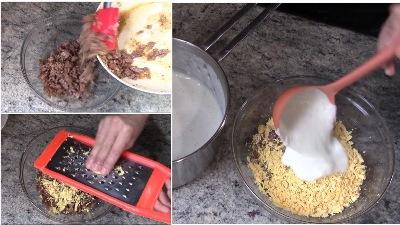 Запеканка с мясным фаршем и соусом бешамель