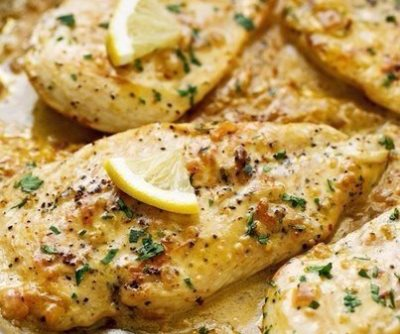 Курица в лимонно-сливочном соусе
