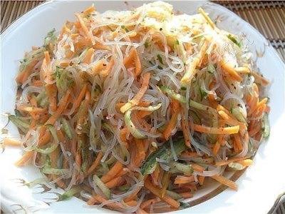 11 рецептов салата с фунчозой