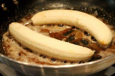 Банановый десерт с мороженным