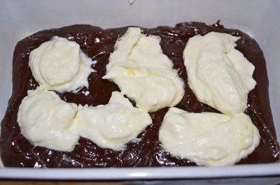 Шоколадно - творожный пирог
