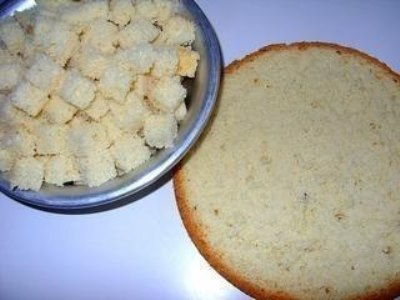 Фруктово-бисквитный торт