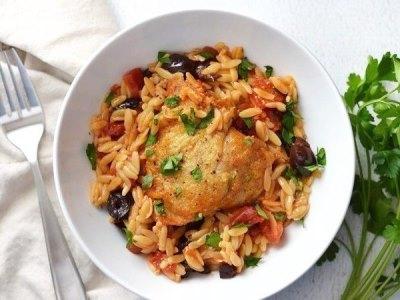 Окорочка запеченные в духовке с рисом