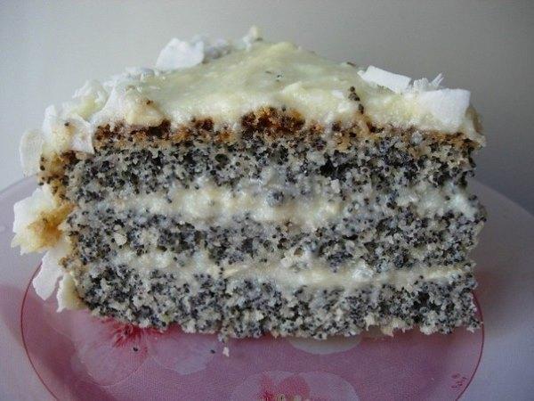 Маково-кокосовый торт