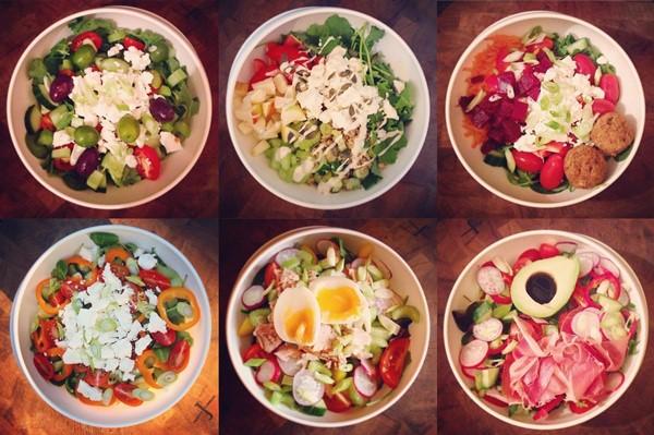 Легкие, диетические салаты