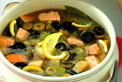 Рыбная солянка 1