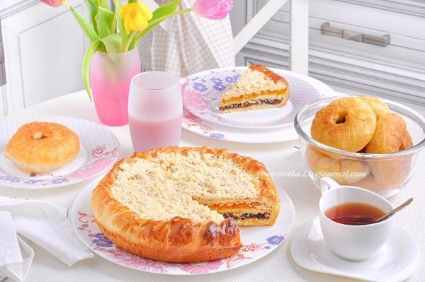 Лимонный пирог с курагой и черносливом 1
