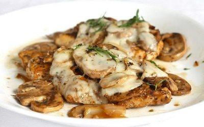Курица, фаршированная грибами и сыром 8