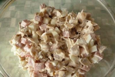 Салат «Гнездо глухаря» с грибами 8