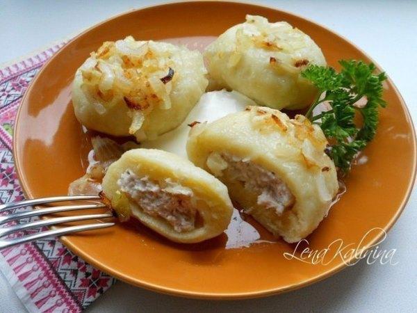 Картофельные галушки с мясом 1