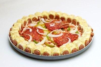 Оригинальная пицца с сосисками 7