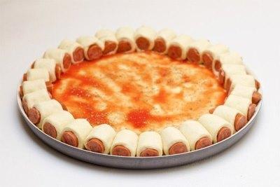 Оригинальная пицца с сосисками 6