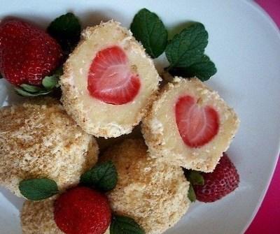 Десертные шарики с клубникой 6