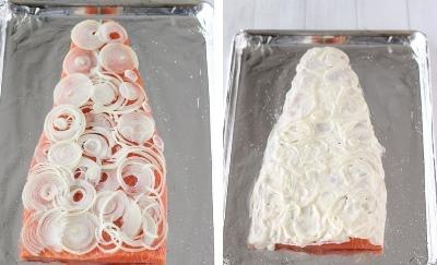 Лосось, запеченный с сыром