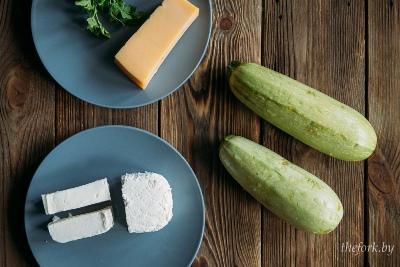 Фаршированные кабачки с творогом и сыром 2