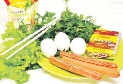Яйцо в сосиске 2