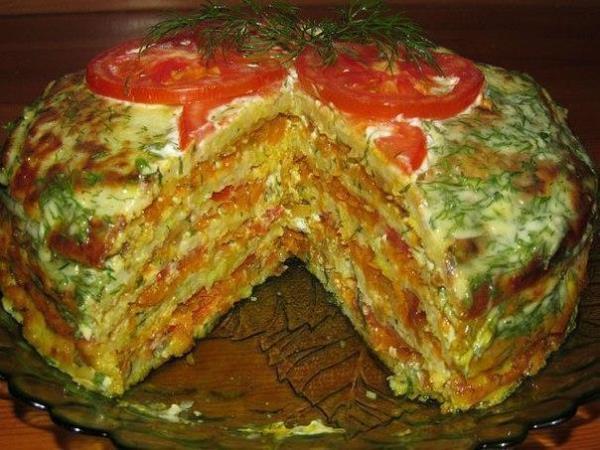 Вкуснейший торт из кабачков