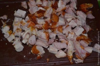 Салат с курицей, овощами и кунжутом 2