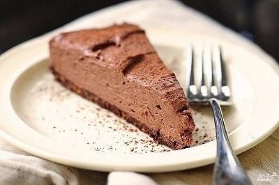 Шоколадный торт без выпечки 3