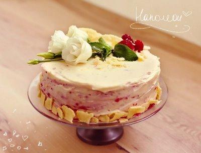 Торт Наполеон с малиной 6