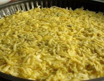Запеканка из тертого картофеля с сыром и чесноком 6