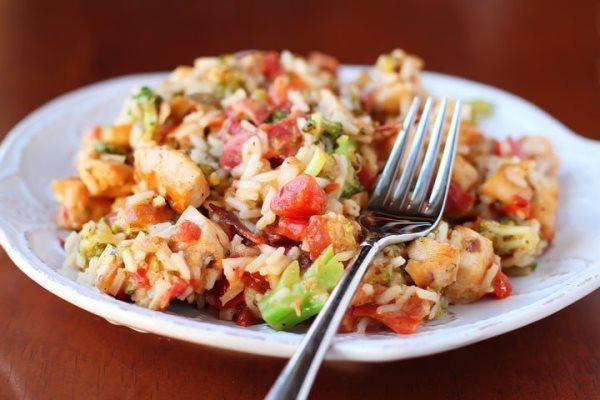 Рис с брокколи и курицей 1