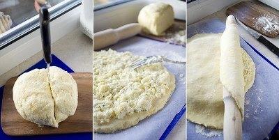 Лепешка из творожного теста с сыром 5
