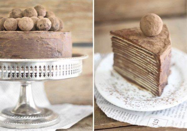 Шоколадный торт из блинов с амаретто 1