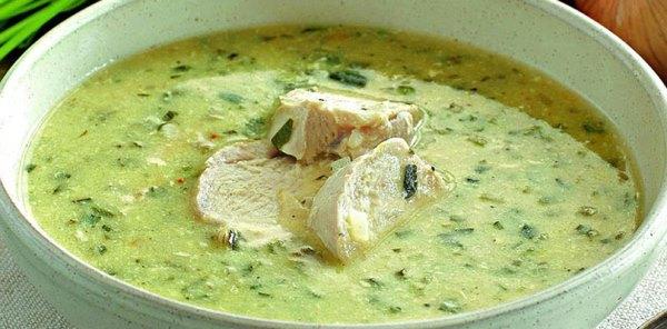 Грузинский куриный суп Чихиртма
