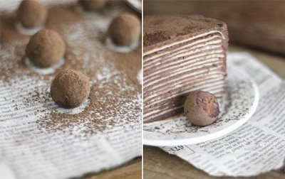Шоколадный торт из блинов с амаретто 2